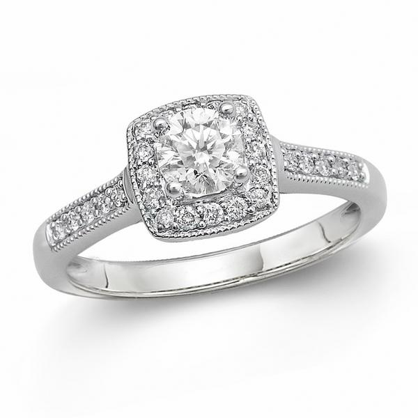 14KY .30TCW DIAMOND ENGAGEMENT RING