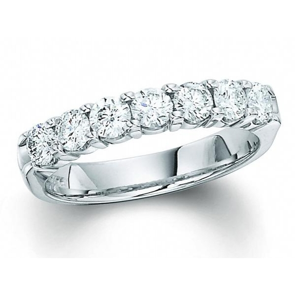 14K WG 1 TCW DIAMOND WEDDING BAND