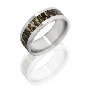 TITANIUM 8MM BREAKUP INFINITY CAMO RING-SIZE 10