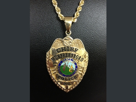 Custom police badge pendant